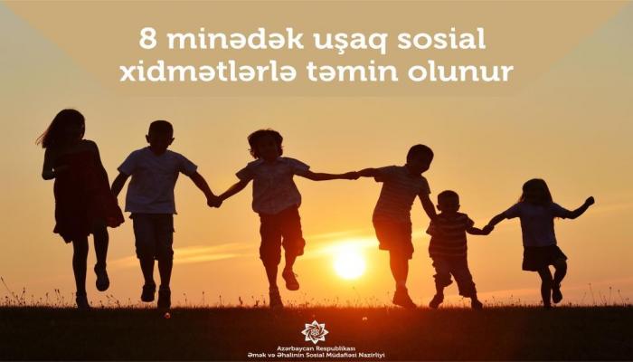 В Азербайджане социальными услугами обеспечены до 8 тыс. детей