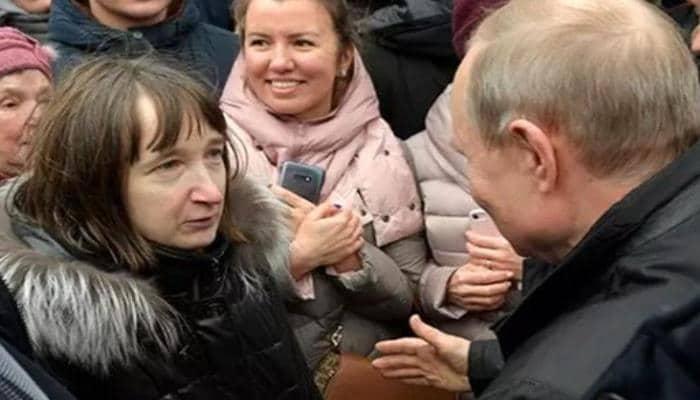 Qadın Putinə yaxınlaşıb sual verdi, prezident utandığından...