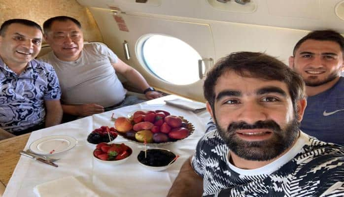 Rafael Ağayev və Hacı Əliyev Tıva prezidentinin ad günündə