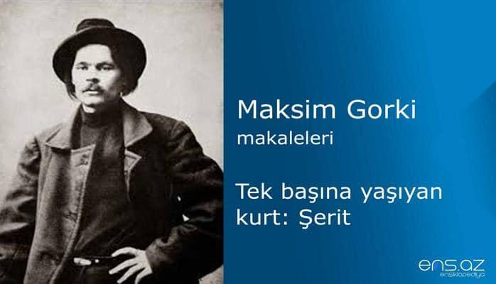 Maksim Gorki - Tek başına yaşıyan kurt: Şerit