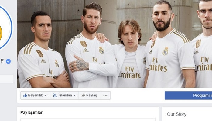 """""""Real Madrid"""" Azərbaycan bayrağını paylaşdı və bu sözləri yazdı"""