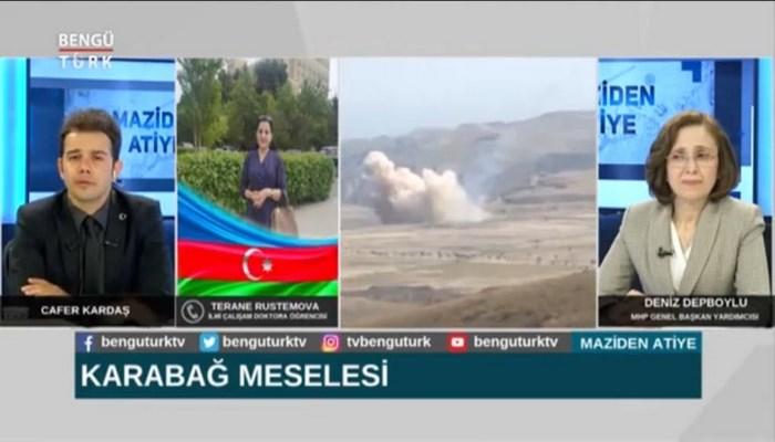AMEA MEK-in sektor müdiri, doktorant Təranə Rüstəmova Türkiyənin Bengütürk televiziya kanalına müsahibə verib