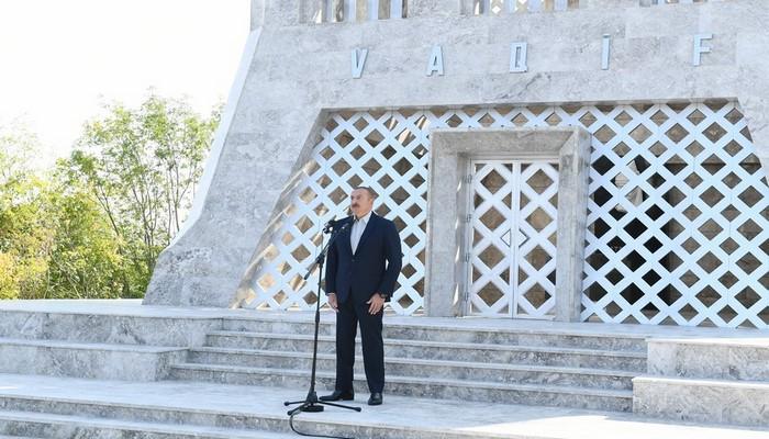 """Azərbaycan Prezidenti: """"Biz bu gün Şuşadayıq və bundan sonra Şuşada əbədi yaşayacağıq"""""""