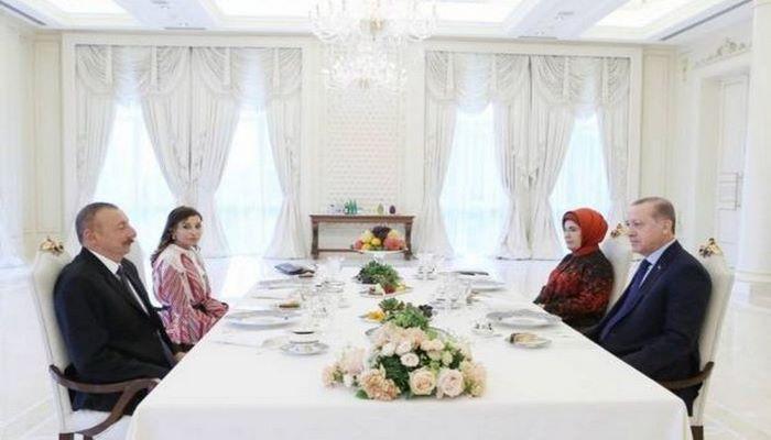 Azərbaycan və Türkiyə prezidentləri Şuşada birgə nahar ediblər