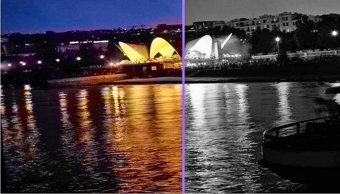 Раскрашенный исторический черно-белый Баку (ФОТО)