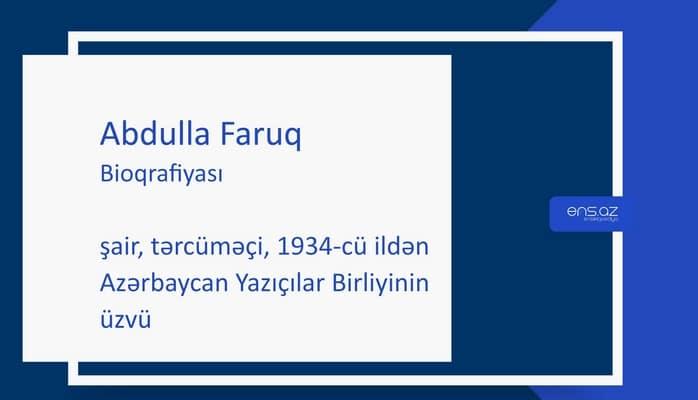 Abdulla Faruq