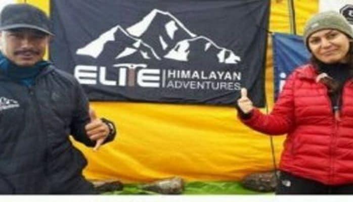 Azerbaycanlı kadın dağcı Himalayaları fethetti