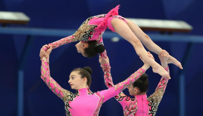 Akrobatika və aerobika gimnastikası üzrə Azərbaycan çempionatlarının qalibləri müəyyənləşib