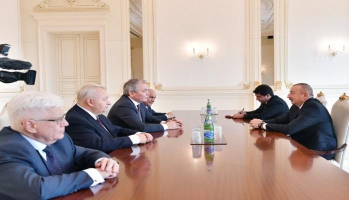 Президент Ильхам Алиев принял российскую делегацию