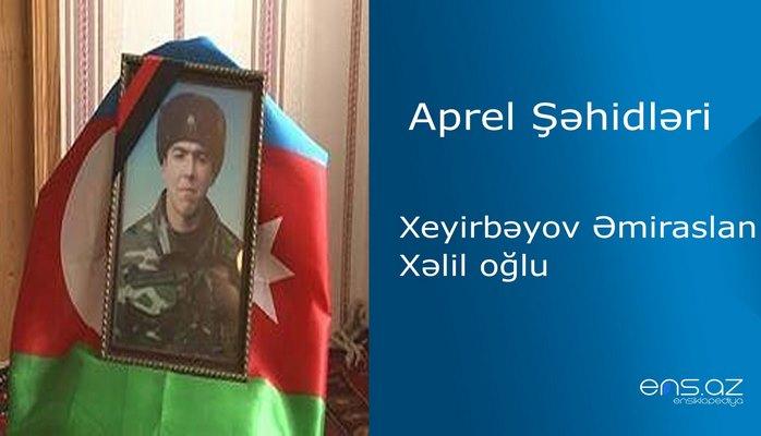 Əmiraslan Xeyirbəyov Xəlil oğlu
