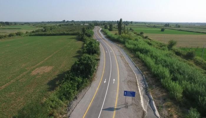Ağdaşda 60 km-lik yol yenidən qurulub