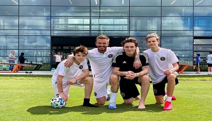 David Beckham boş stadyumda çocuklarıyla futbol oynadı