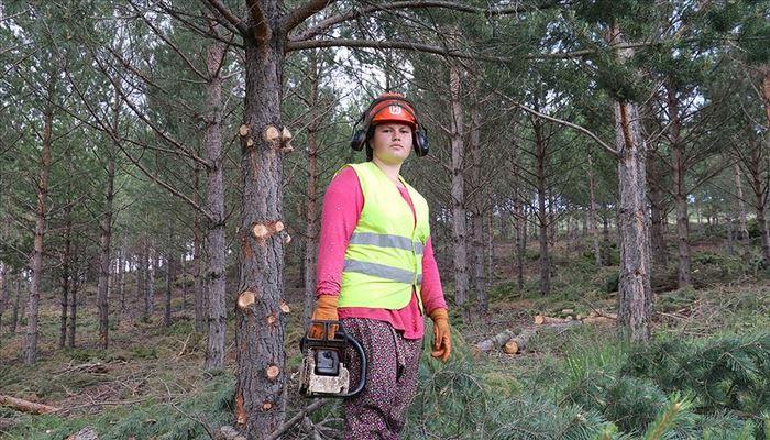 Ormanın 'prensesi' Ülkü'nün zorlu mesaisi