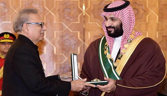 Pakistanda səudiyyəli şahzadəyə qızıl silah verildi