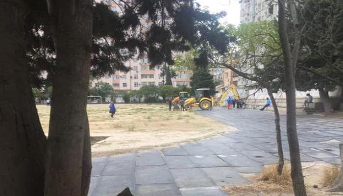"""""""Məhsul"""" stadionu təmirə bağlandı"""