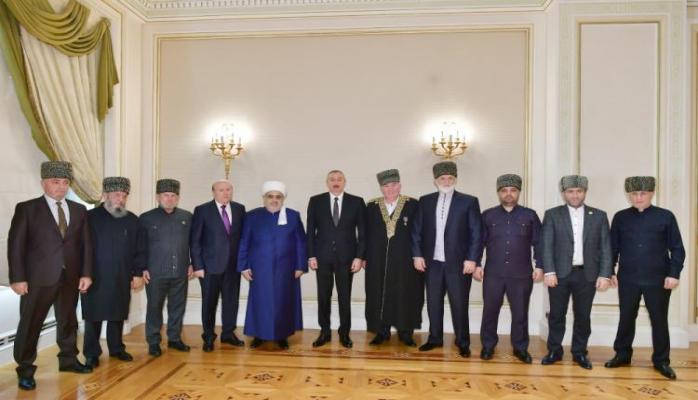 Prezident İlham Əliyev Rusiyanın Şimali Qafqaz respublikalarından olan bir qrup müsəlman din xadimini qəbul edib
