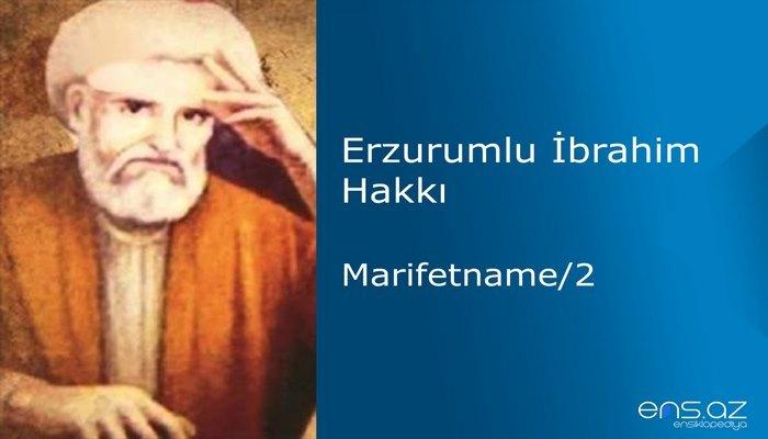 Erzurumlu İbrahim Hakkı - Marifetname/23