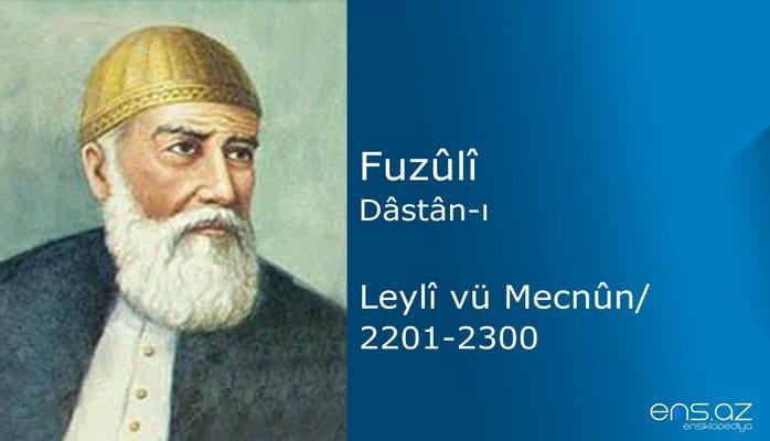 Fuzuli - Leyla ve Mecnun/2201-2300