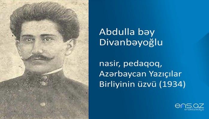 Abdulla bəy Divanbəyoğlu