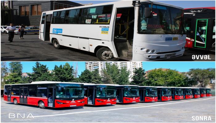 Bakıya yeni avtobuslar gətirildi