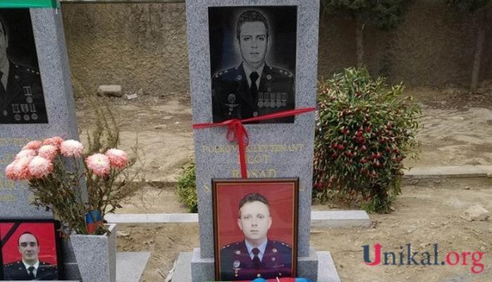Pilot Rəşad Atakişiyevin məzar daşı hazırlandı