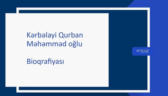 Kərbəlayi Qurban Məhəmməd oğlu