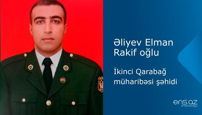 Əliyev Elman Rakif oğlu