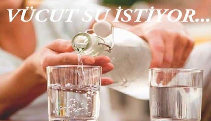 Suya ihtiyacımız olduğunu gösteren farklı belirtiler nelerdir?