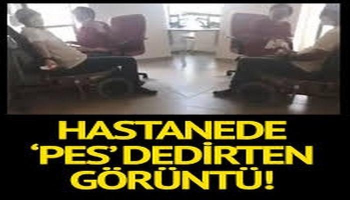 Hastanede 'pes' dedirten görüntü! Maskesiz ve eldivensiz corona testi yapan personele soruşturma