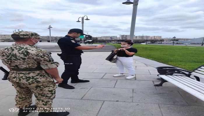 На улицах Баку полиция проводит контрольно-профилактические мероприятия