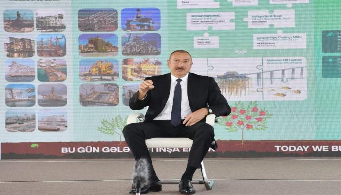 Президент Ильхам Алиев: Привозить откуда-то людей и расселять их на оккупированных землях – преступление