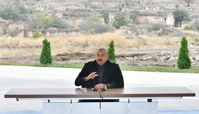 """Prezident: """"Füzuli nəzarətimizə keçəndən sonra Şuşa istiqamətinə getmək üçün daha geniş imkanlar açıldı"""""""
