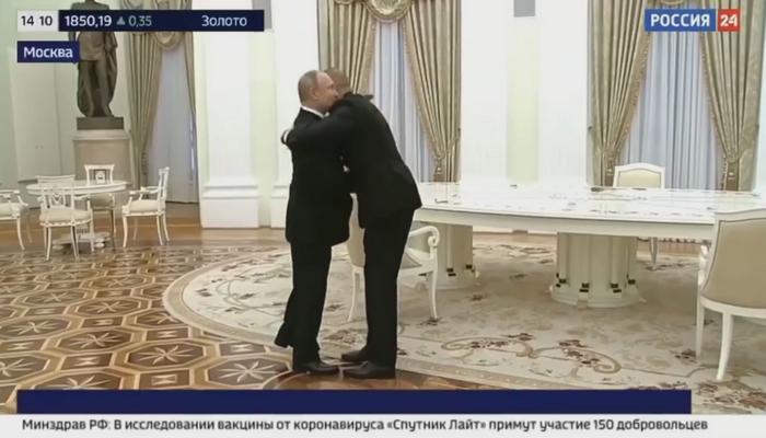 Putin İlham Əliyevi səmimi qarşıladı