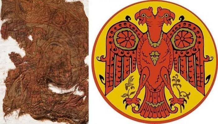 Rusların bir vaxtlar Ermitaja aparmaq istədiyi Böyük Səlcuqlu Bayrağı (İki Başlı Qartal)